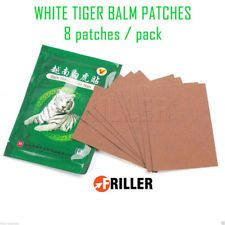 White Tiger Balm Relief Patches Patch Arthritis Pain Body Massage 8 Pack