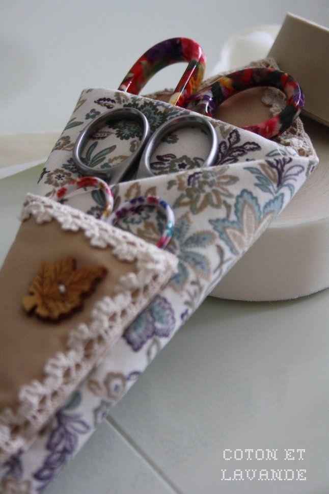 Coton et Lavande: Una funda para las tijeras...