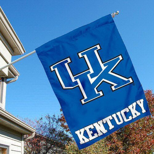 University of Kentucky Wildcats House Flag by College Flags and Banners Co.. $23.95. University of Kentucky Wildcats House Flag is 30x40 inches in size, is made of single-ply polyester with double-sided bottom school panel, has a top sleeve for insertion of a wood or aluminum flagpole, and the Licensed NCAA School logos are screen printed into this University of Kentucky Wildcats House Flag.. Save 14% Off!