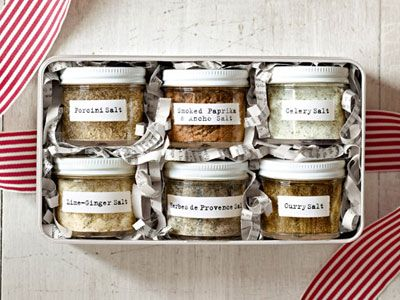 DIY Flavored Salts - Country Living  #food_gifts... Lime ginger salt...Yum!