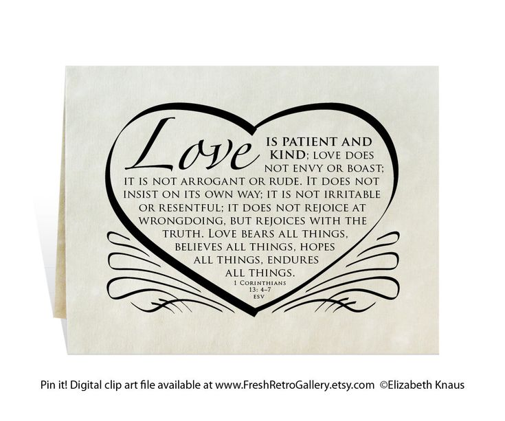 Wedding Bible Verses For Invitation Cards: Wedding Card, Program, Invitation, Love Is Patient And