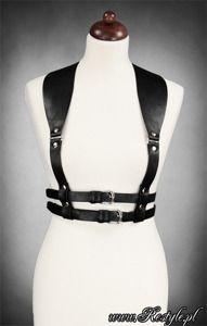 "Underbust harness "" WIDE STRAPS BELT BLACK"" gothic accessory"