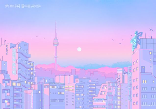 Tokyo Streetscapes Aesthetic pastel wallpaper, Aesthetic