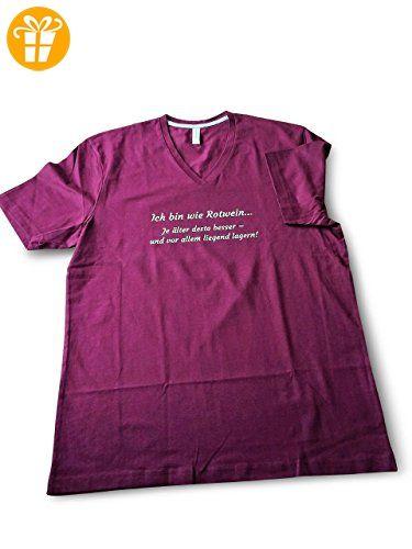 Herren Shirt ICH BIN WIE ROTWEIN..Weinrote Farbe,cooler Spruch - Shirts mit spruch (*Partner-Link)