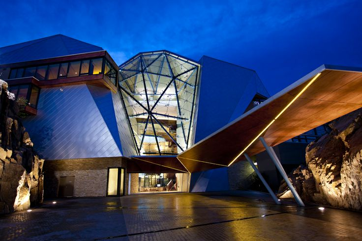 Sparkling Hills in BC's Okanagan. Owned by the Swarovski family, the hotel has over 10 million Swarovski crystals in the hotel design. It offers a cyrotherapy treatment in which you spend 3 minutes in a -110C room where every cell in your body is recharged!