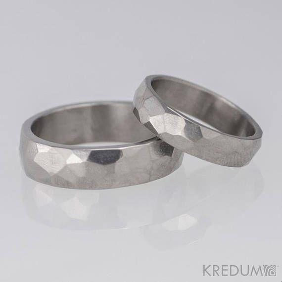 Titanium Wedding Band Custom Made Simple Handmade Mens Or