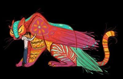 Criaturas de Un gran dinosaurio, monstruos de Monsters University y el gato de Intensa-mente aportaron partes para las nuevas creaciones de Coco.