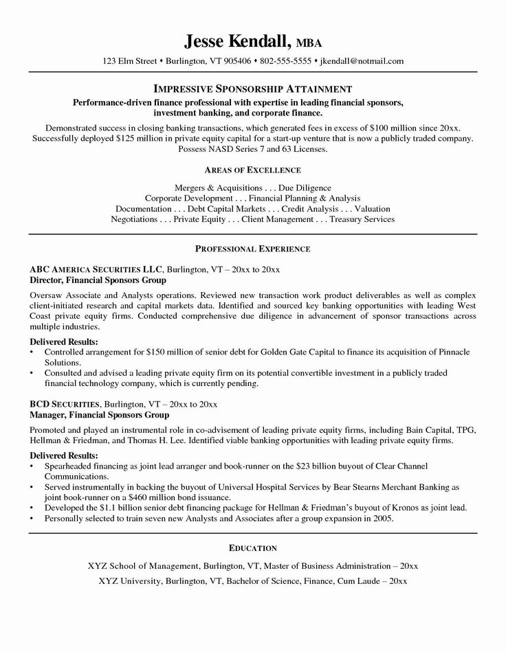 24+ Private equity resume template wso ideas in 2021