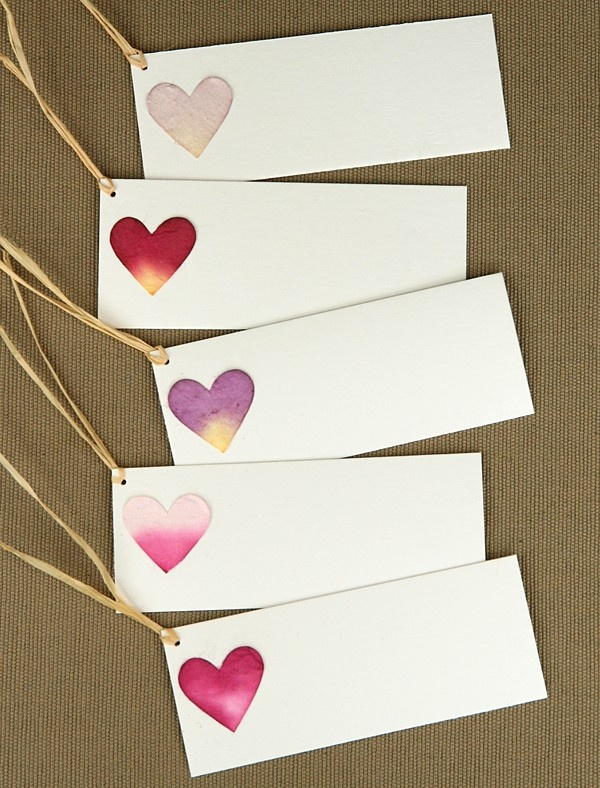 Heart Name Place/ Favour Tags from Natural Design who just joined our green wedding directory
