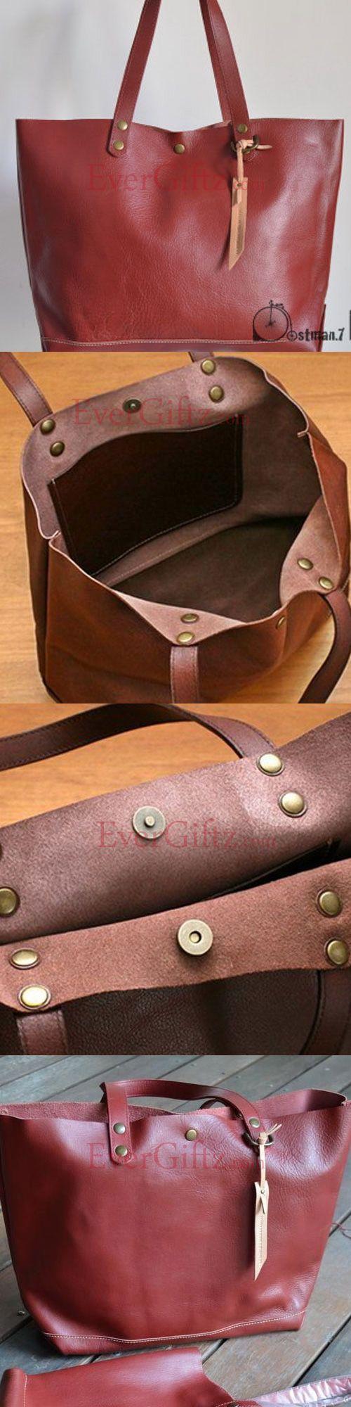 Genuine tote  Leather vintage handmade shoulder bag crossbody bag handbag