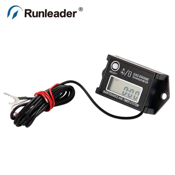 Free shipping Waterproof Tachometer Hour Counter Motor RPM Meter For Any 2/4 Stroke Gasoline Engine chainsaw jet ski