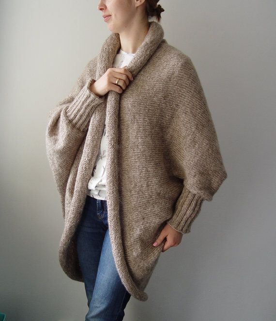 Custom order: Over Size Cocoon Sweater Woman Poncho Warm