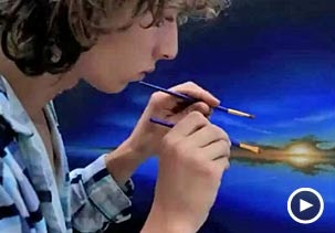 Amazing Paint skills from Young Dutch Artist