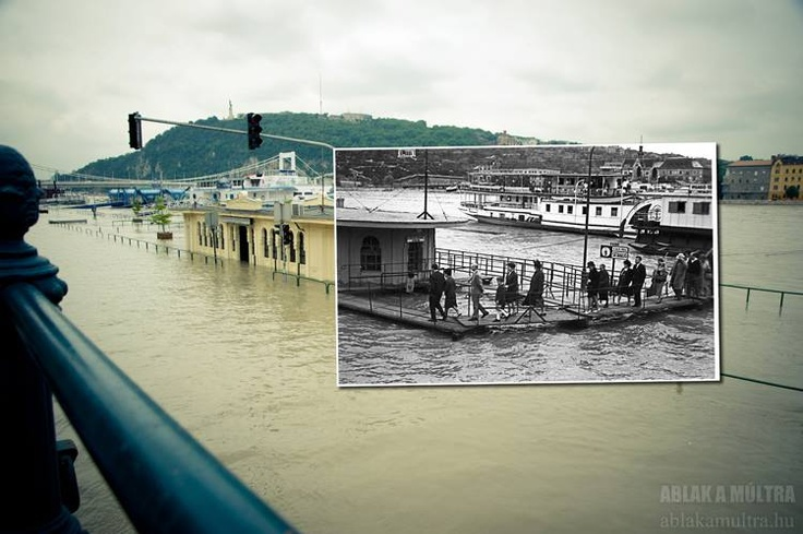 Budapest   Budapest Flood Now and Then ~1965 - 2013. credit: Ablak a múltra / Window to the past. Record High Flood is Coming, Pray for Budapest, Hungary! Follow Budapest   Flood 2013. Photostream on FB https://www.facebook.com/BudapestPocketGuide & on Google+ @ https://plus.google.com/u/0/b/115990222400409382986/115990222400409382986/posts #budapest #flood #danube