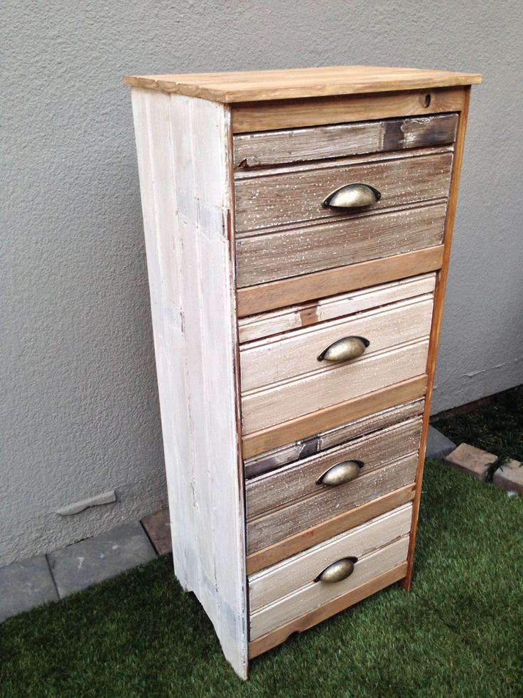 Chest of drawers with old oregon ceiling planks