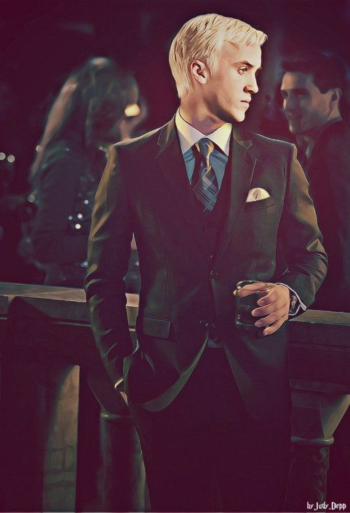 "The whole ""Every man needs a well-tailored suit"". And the fact that it's Tom Felton helps, too. I might be drooling."