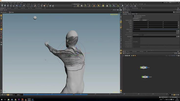 Houdini VEX Tutorial: lines flowing on a surface towards a target on Vimeo