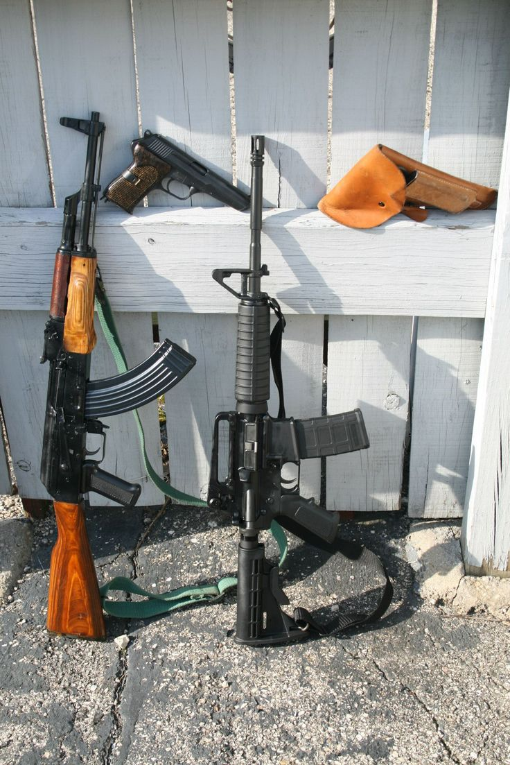 3 more members of the family. Maadi AK-47, Bushmaster M4A3 and a CZ-52 pistol.