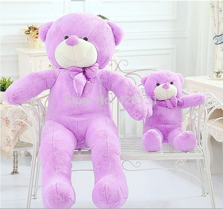 (33.00$)  Watch more here  - Wholesale  Teddy Bear plush toy  80cm  birthday Valentine's Day gift  Purple Factory outlets plush toy doll  woman Lavender