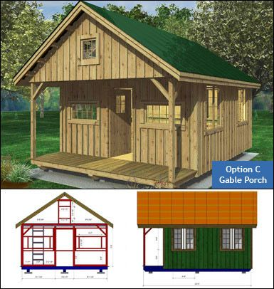 Outdoor playhouse plans with loft woodworking projects for Single room cabin plans