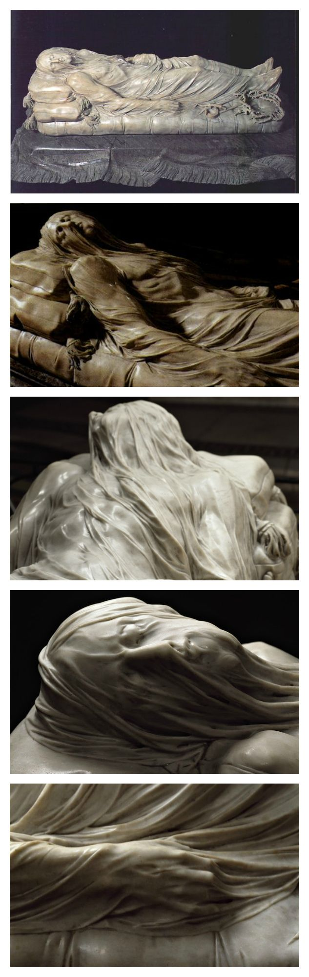 The Veiled Christ. Marble Sculpture by Giuseppe Sanmartino (1753)