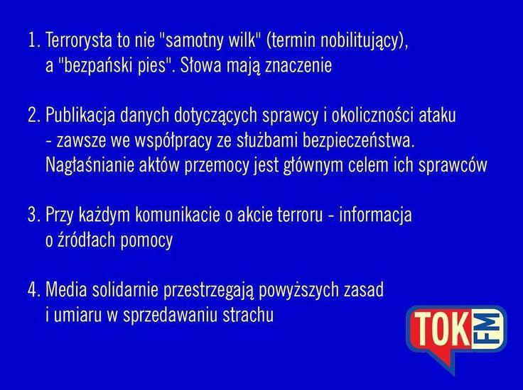 Prosty przepis na informowanie o zamachach zebrany przez Hannę Zielińską @radiotokfm #radio #media #TOKFM #rzetelnie #rozmawiamy #słuchajcie #TOKFM