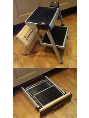 Steel compact folding stool for kitchen use that can be concealed in toe space.  sc 1 st  Pinterest & Best 25+ Plastic step stool ideas on Pinterest | 3 step stool ... islam-shia.org