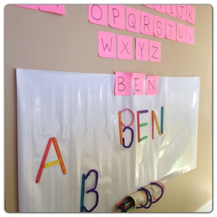 Alphabet Activities for Preschoolers No Pencil Required