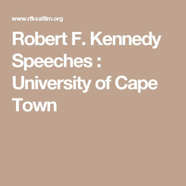 Robert F. Kennedy Speeches : University of Cape Town