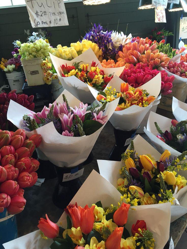 Ramos de tulipanes en Seattle.