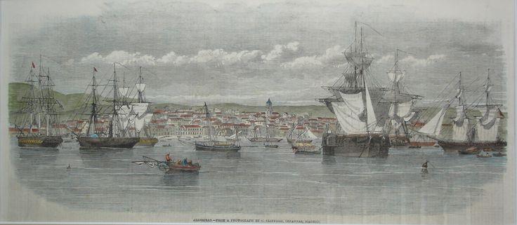 Vista de Algeciras del siglo XIX