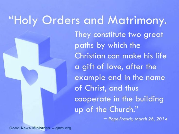the sacrament of marriage in christianity In catholicism, it is still believed that the sacrament of matrimony is between god , the man and the woman, while the reformation of the sixteenth century ce.