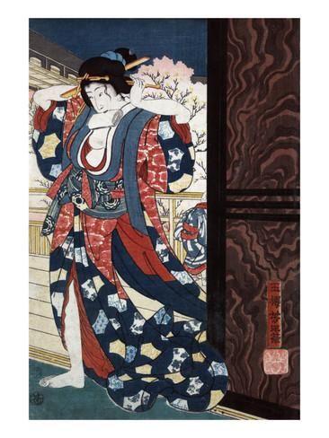 Courtesan Fixing Her Hair, Japanese Wood-Cut Print Julisteet tekijänä Lantern Press AllPosters.fi-sivustossa