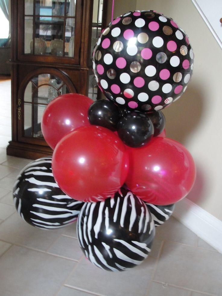 Balloon centerpiece very easy Four 12 inch