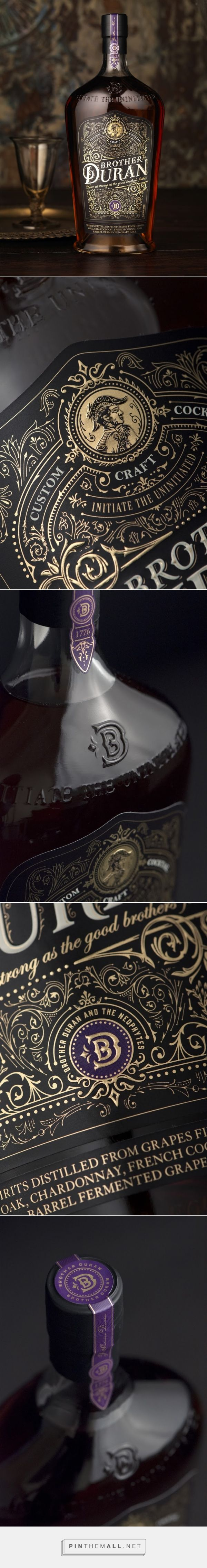Brother Duran spirits packaging designed by CF NAPA Brand Design - http://www.packagingoftheworld.com/2015/11/brother-duran.html