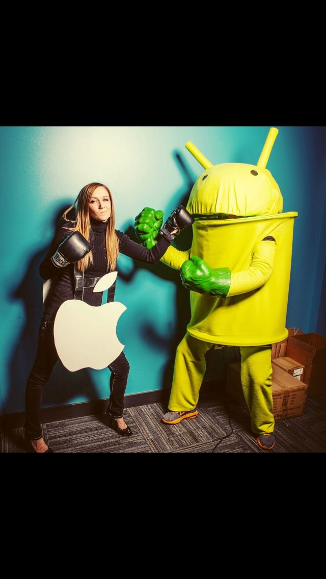 Couples Halloween Costume Apple VS Android