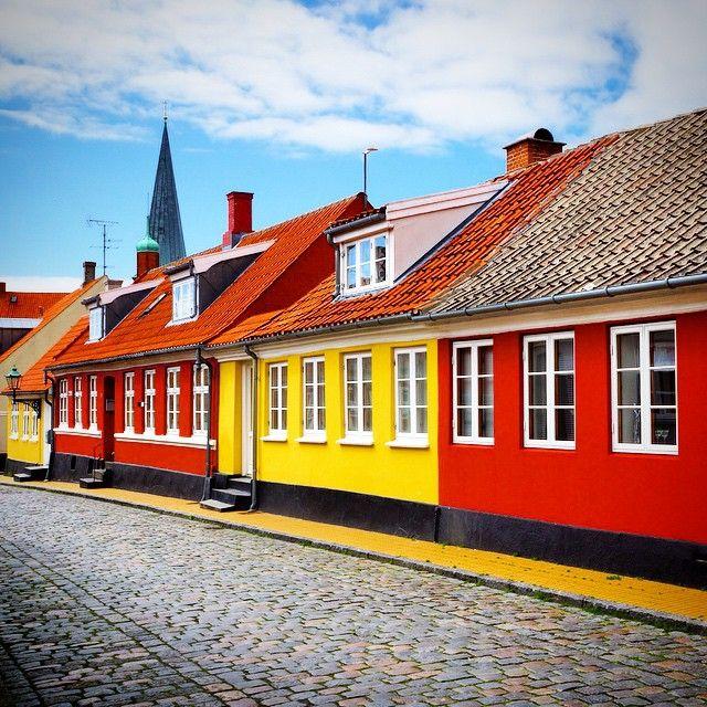 Rønne, Bornholm #ronne #roenne #bornholm #houses