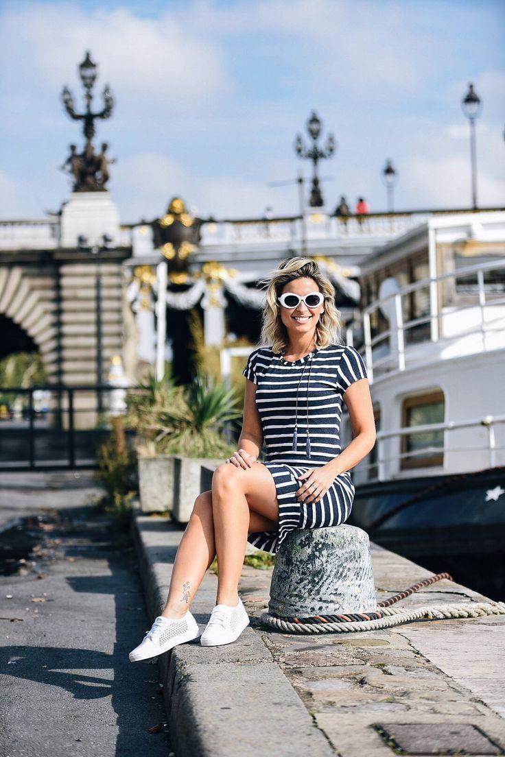 Look Marinheiro - Listras brancas e Azul Marinho #Paris #Moda #estilo #Fashion