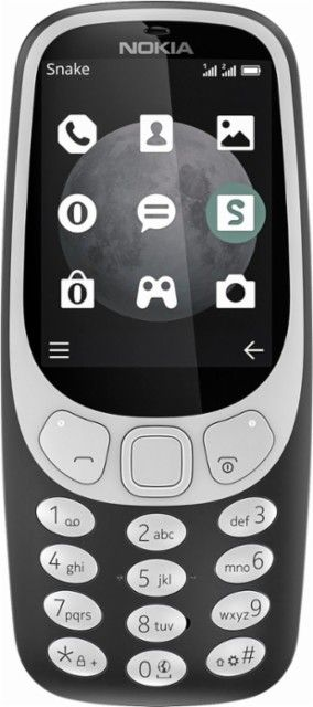 Nokia - 3310 3G Cell Phone (Unlocked) - Charcoal - Front_Zoom