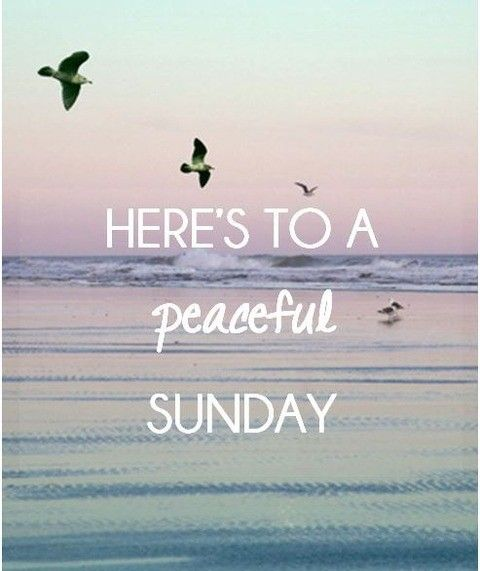 Happy Sunday! And may it be a peaceful one ♥