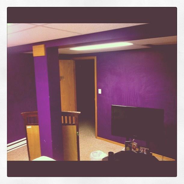 Last day this bad boy is purple  #buhbye #purple #grade9 #memories #painting #bedroom Last day this bad boy is purple  #buhbye #purple #grade9 #memories #painting #bedroom