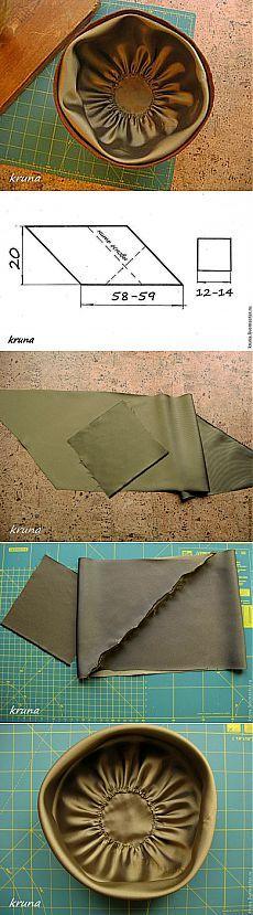 """Изготовление, способ обработки и прикрепления подкладки """"рюшка"""" для шляп - Ярмарка Мастеров - ручная работа, handmade"""