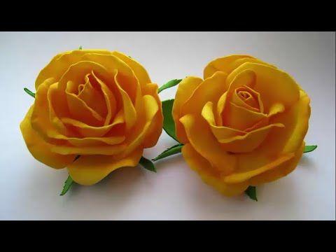 Dễ dàng làm hoa hồng bằng mút xốp giống như thật - YouTube