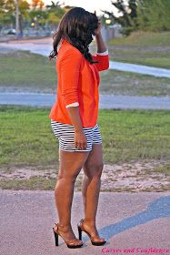 Curves and Confidence | A Miami Style Blogger: Weekend Wear: Blazer & Shorts