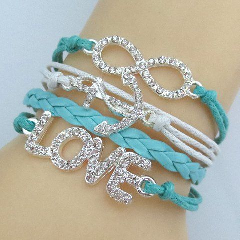 Love and Infinity Charmed Turquoise Bracelet