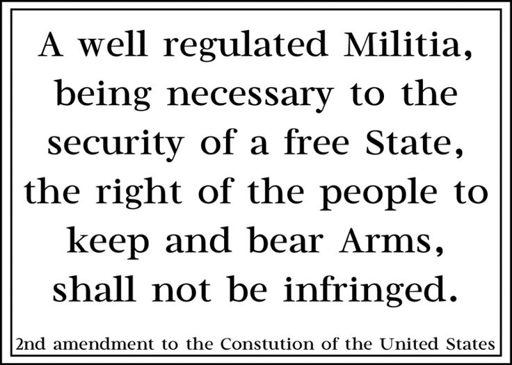 a right to bear arms in united states The right to keep and bear arms: report of the subcommittee on the constitution of the committee on the judiciary, united states senate, ninety-seventh congress, second session author united states.
