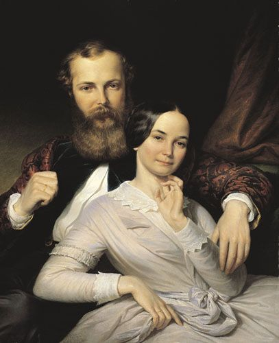 Weber, Henrik   The Composer Mihály Mosonyi and His Wife   1840s   Oil , Canvas  85 x 69 cm   Inv.: 5181