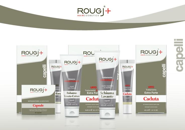 Rougj Haircosmetics - Linea Capelli    http://www.rougj.com/prodotti/capelli