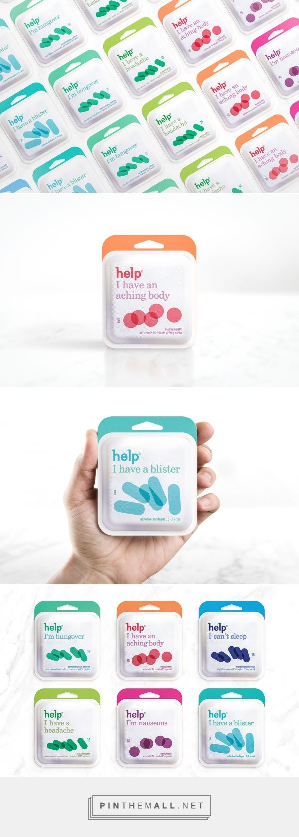 Help Remedies Paper packaging design by Phillip Nessen - http://www.packagingoftheworld.com/2017/02/help-remedies-paper-pack.html