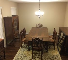 How can I modernize my antique dining room? - My husband inherited an antique dining room set from his uncle and it's very sentimental to him. Most of my house…